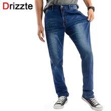 Drizzte джинсы мужчины плюс размер 40 42 44 46 48 дизайнер хлопка Джинсовая Большие Большой Размер Брюки Брюки Большой Карман Жан Для Работы