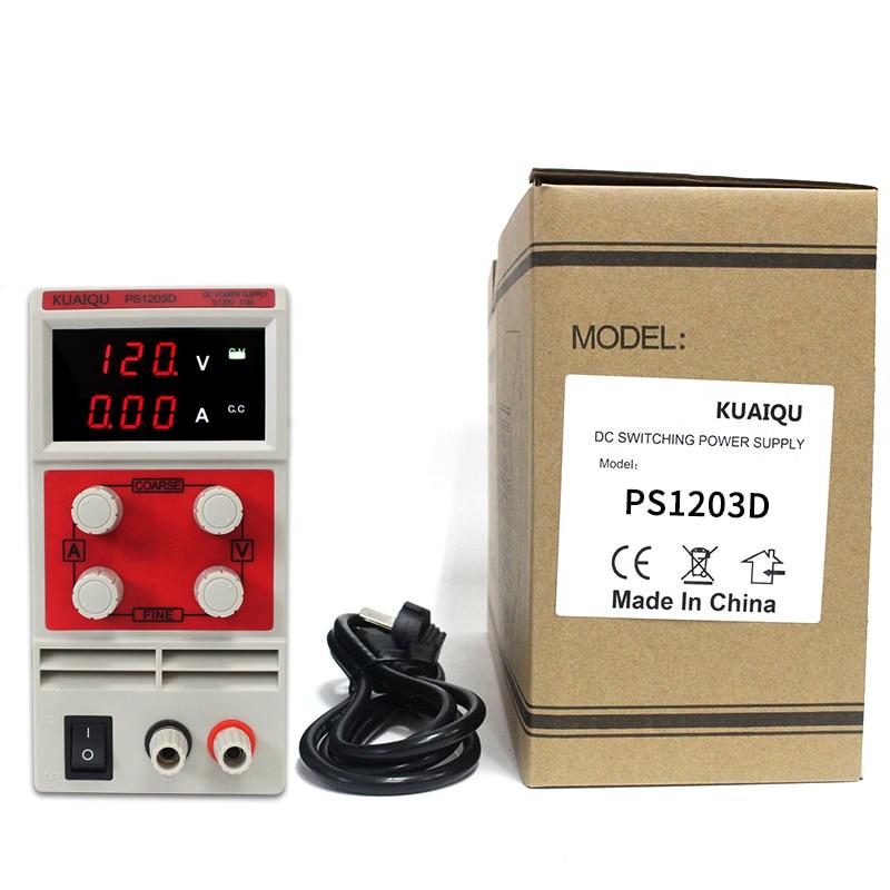KUAI QU 30 V 5A commutateur réglable DC alimentation 30 V 10A laboratoire LED d'alimentation affichage 60 V 5A régulateur 110 V-230 V