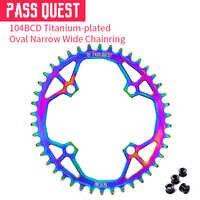 47g 34 T 104 BCD Oval Titan-überzogene Mountainbikes Kette Rad Kette Ring Kurbelgarnitur 34 T 36 T 38 T 40 T 42 T 44 T 46 T 48 T