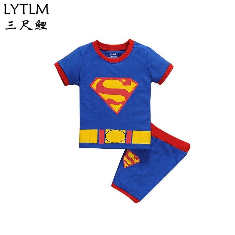LYTLM Человек-паук выпускников костюм летний Комплекты одежды для маленьких мальчиков короткий рукав спортивный костюм дети Костюмы комплек...