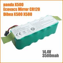 NI-MH 14.4 V 3500 mAh panda X500 X600 Batería Batería De Alta calidad para Ecovacs Mirror CR120 aspirador Dibea X500 batería X580