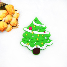 Happyfriends 1pcs Baby Dental Care Christmas Tree Food Grade Silicone Teether