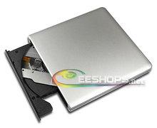 Best USB 3.0 External Blu-ray Drive 6X 3D Dual Layer BD-RE DL DVD Recorder for HP EliteBook Folio 9470m Ultrabook Silver Case