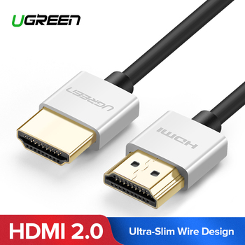 Ugreen Metal HDMI Cable 2.0 High Speed HDMI to HDMI Cable Connector 0.5M 1M 1.5M HDMI 2.0 4K 1080P 3D for PS3 projector Apple TV Углеродное волокно