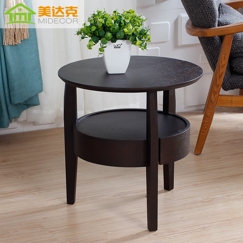 Round corner tables gallery table decoration ideas dark wood coffee table beauty small side table and a few small round dark wood coffee watchthetrailerfo
