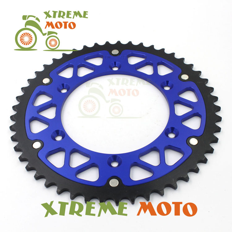 52T CNC Rear Chain Sprocket For Husaberg TE125 250 300 FE250 350 390 400 450 501 550 570 FC350 400 501 550 FS450 550 570 FX450 billet rear hub carriers for losi 5ive t