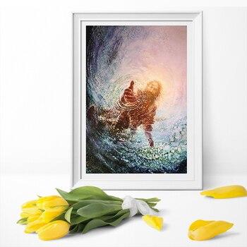 Спаситель Иисус с точки зрения Питера Христос стены искусства холст живопись плакат и печать холст печать стены искусства картины