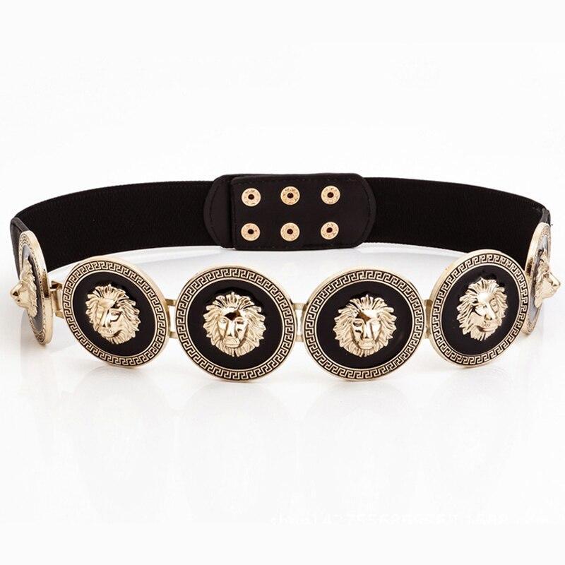 Golden Waist Belts Fashion Womens Party Metal Wide