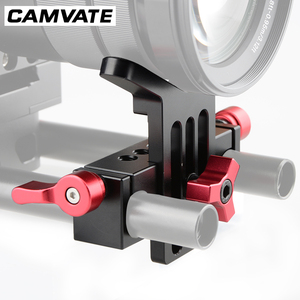 Image 5 - CAMVATE Lens Support Mount Rod Clamp Holder Bracket for 15mm Rod System Follow Focus C1107