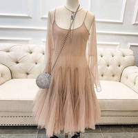 Spring Pink Dress For Women 2019 O neck Elegant Long Sleeve Dress Party Fashion Women New A line Dress
