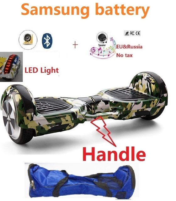 "6.5 ""Электрический скейтборд Samsung батареи самобалансируемый скутер gyroscooter за бортом умный Баланс колеса самоката Hover доска"