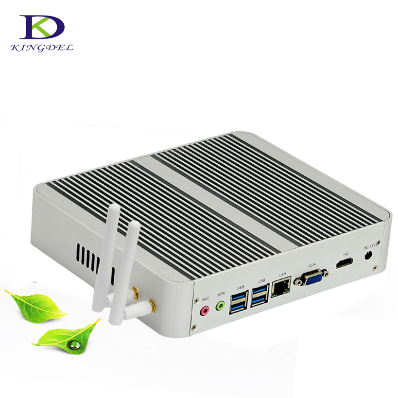 2017 Big Promtion Fanless HTPC With 7th Gen Kaby Lake Core I3 7100U Win 10 Mini Computer 4K Business Mini PC 8G RAM+512G+1TB
