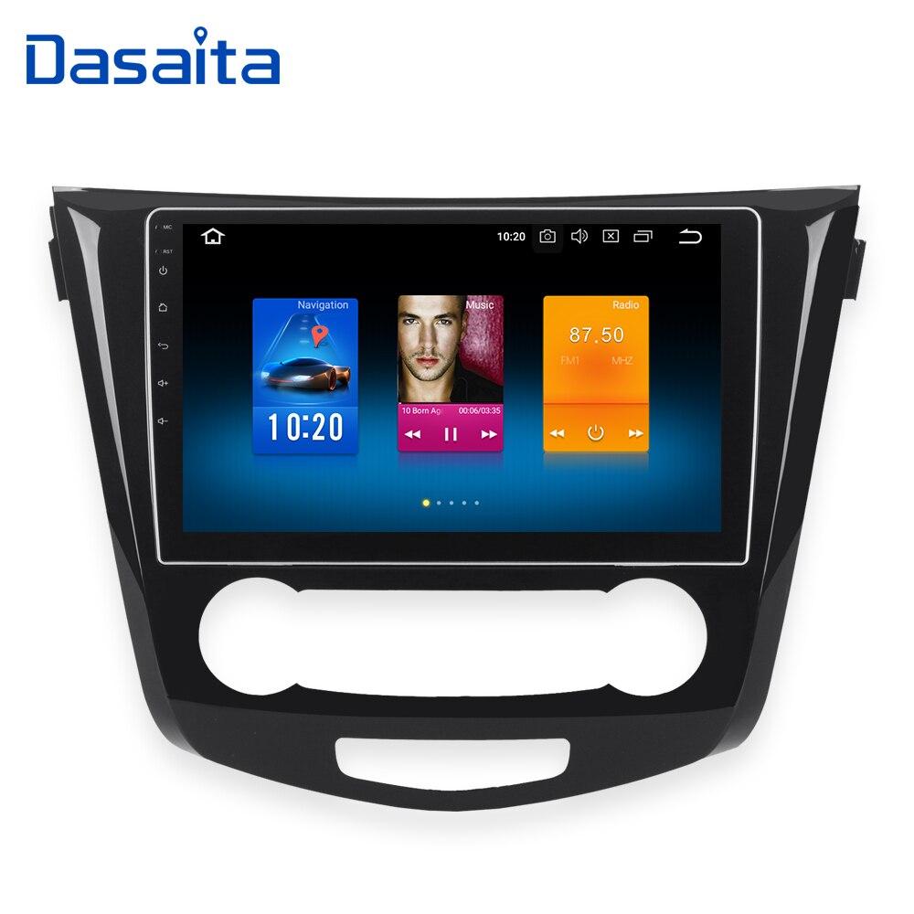 Dasaita 10,2 Android 8,0 автомобиль gps радио для Nissan Qashqai мультимедиа 2014 2015 с Octa Core 4 ГБ + 32 ГБ авто стерео