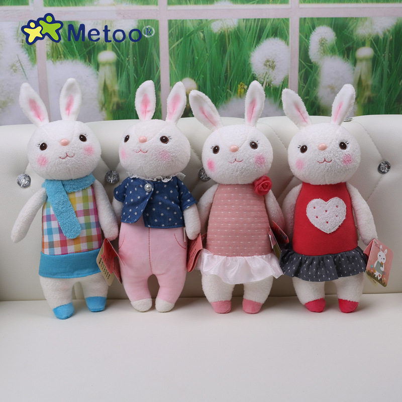 37cm Tiramitu Rabbits Kawaii Plush Sweet Cute Lovely Stuffed Baby Kids Toys for Girls Birthday Christmas Gift Metoo Doll