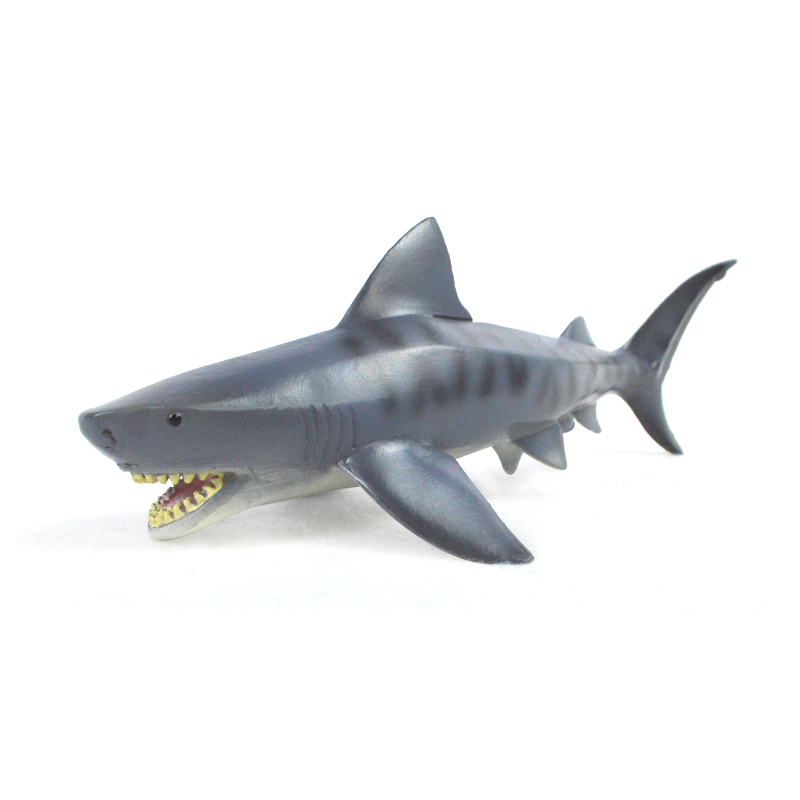 Simulation Model Tiger Shark Toys Marine Animals Billhead Sharks big white shark Plastic Solid Sealife model Kids Learning Toy mr froger bengal white tiger model toy wild animals toys set zoo modeling plastic solid classic toy children animal models cute
