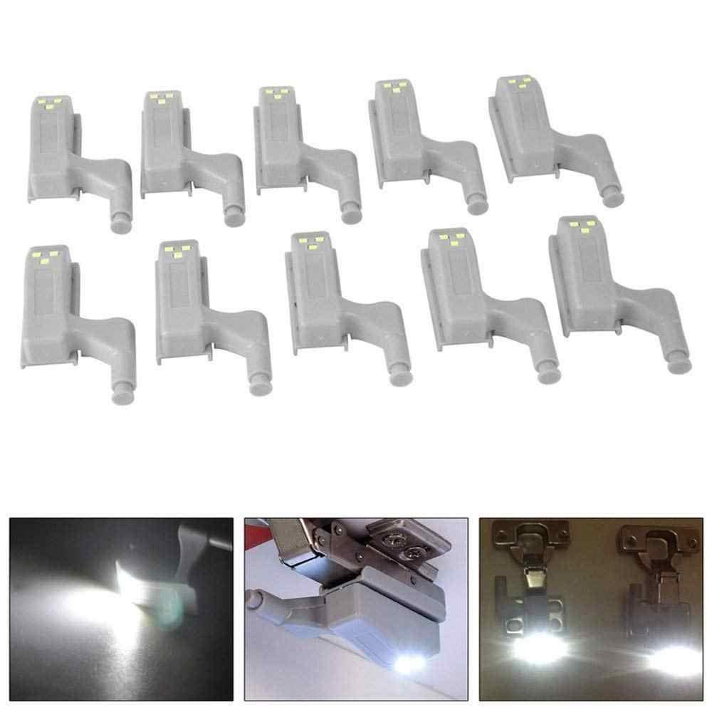 Универсальная светодиодная подсветка под шкаф, внутренняя шарнирная лампа для шкафа, шкаф, шкаф, датчик освещения, ночник для дома, кухни, 10 шт.
