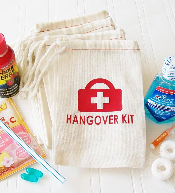 Personalized Wedding Party First Aid Survival Hangover Kit Jewelry Favor Muslin Bags Bachelorette Hen Bridal Shower Favors In Gift Wring Supplies