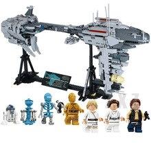 MOC O Nebulon Lepin 05083 Estrelas de Guerra Modelo B Conjunto Legoingly Fragata Médica de Blocos de Construção Tijolos Brinquedos Para Crianças Compatíveis