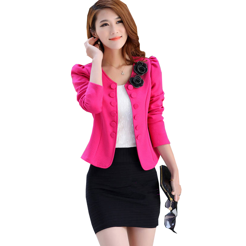 Blazer Women Rushed 2018 Autumn Slim Womens Double Breasted Design Long-sleeve Cardigan Blazer Female Jacket Woman Coat Xy111