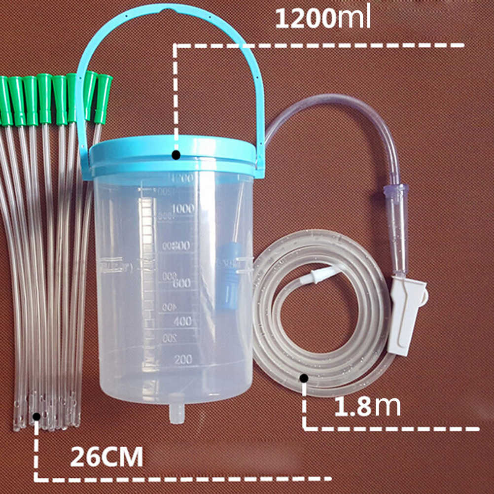 Gesen coffee intestine bowel hydrotherapy device with 10 tube Hygiene Product Household enema bowel barrel enema bag device