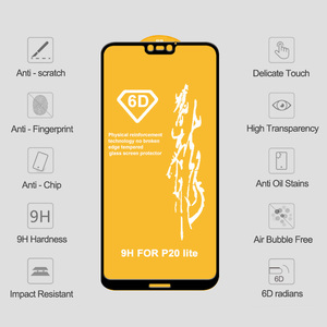 Image 5 - 6D 強化ガラス Huawei 社の名誉 8X 8A 8C 7X スクリーンプロテクターノヴァ 4 3i 保護 Huawei 社の名誉 8C 8A 9 Lite V20