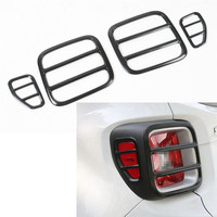 4Pcs/Set Iron Exterior Car Rear Tail Lamp Light Trim Cover Styling Decorative Frame For Jeep Renegade 2015 2016