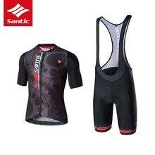 Santic 2017 Cycling Jersey Set Breathable Tour De France Racing MTB Road Bike Clothing Quick Dry