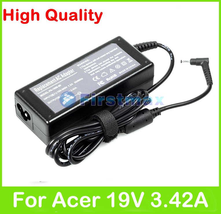 65 W 19 V 3.42A מתאם מתח AC אספקה עבור Acer Aspire S5-391 P3-171 S3-392 R7-371T P3-131 S5-392 S7-191 S7-391 S7-392 מטען