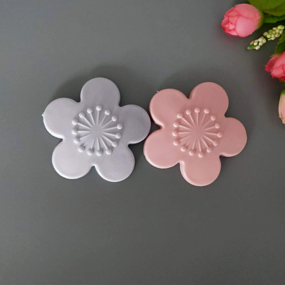 Furniture Hot Fashion New Arrival Practical Silicone Cherry Blossom Shape Wall Protector Door Handle Crash Pad Furniture Accessories