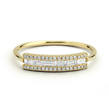 Huitan Minimalist Light Ring Proposal For Girlfriend Engagement Anniversary Crystal Band  Fashion Jewelry