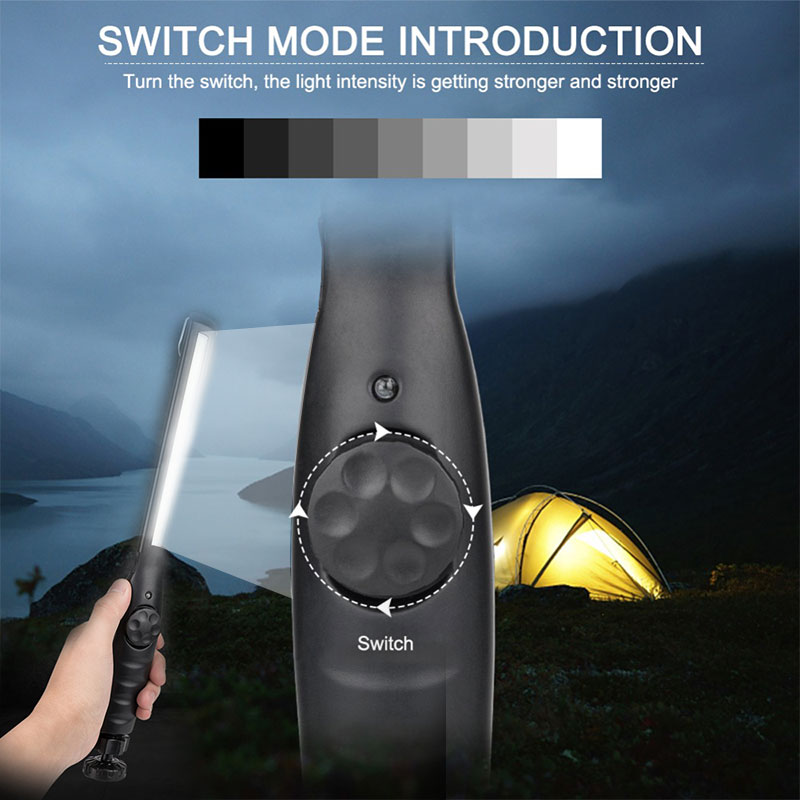Slim Work Light Flashlight Climbing Tactical Military COB LED 1000LM Emergent Lamp Mechanic Repair Car Waterproof Rechargeable