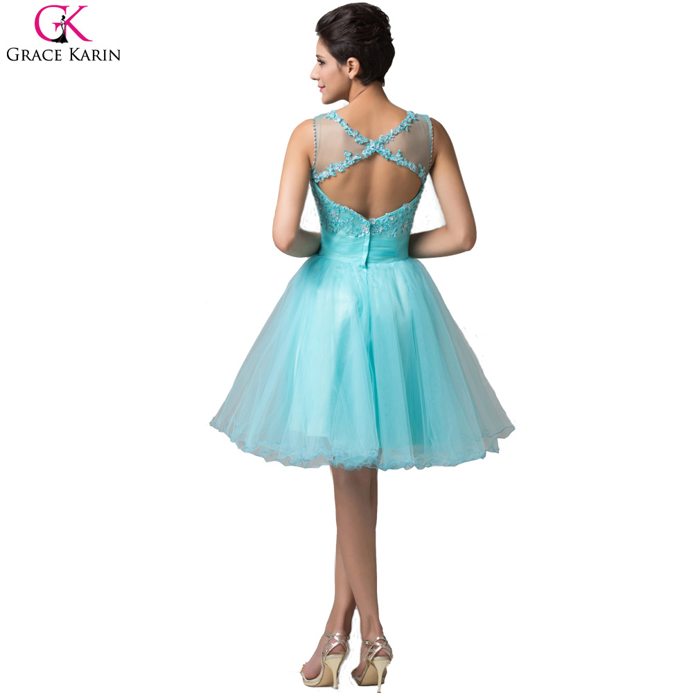 Grace Karin Short Evening Dress Robe De Soiree Courte Tulle ...