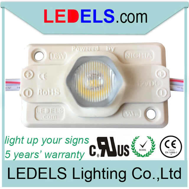 120pcs/lot ,c/UL Listed CE ROHS approved 12v 1.6w 120LM edge