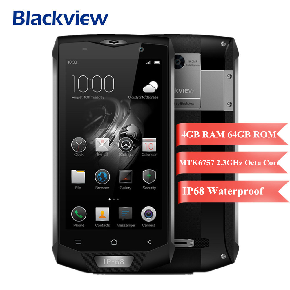 Blackview BV8000 Pro 4G Mobile Phone Android 7.0 5.0 inch FHD MTK6757 2.3 GHz Octa