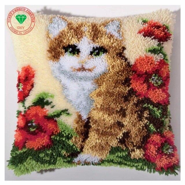Costura de almohada gato establece para bordado puntada hilo LATCH ...