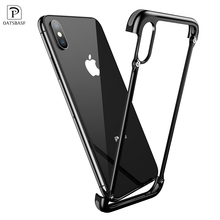 OATSBASF For iPhone XS luxury Airbag Metal Personality shockproof Protection case for Case Slim Bumper Cover
