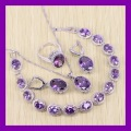 Marvelous Purple Amethyst Bracelets Jewelry Sets For Women Angelic 925 Sterling Silver Earrings/Ring/Necklace/Pendant