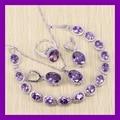 Marvelous Purple Amethyst Bracelets Jewelry Sets For Women Angelic 925 Sterling Silver Earrings/Ring/Necklace/Pendant