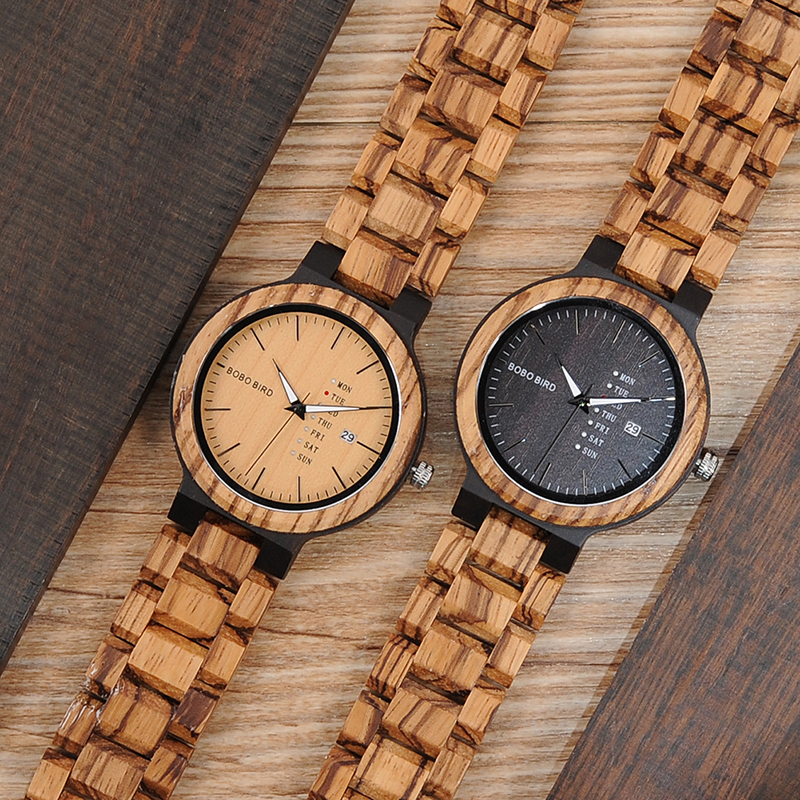 wood band wristwatches fashion bobo bird new gifts items (7)