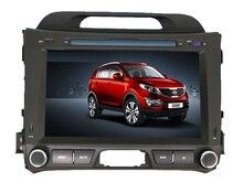 """Бесплатная доставка 8 """"dvd-плеер автомобиля для Kia Sportage R 2010 2011 2012 спереди большой USB Bluetooth GPS навигации Радио бесплатная Географические карты + камера"""