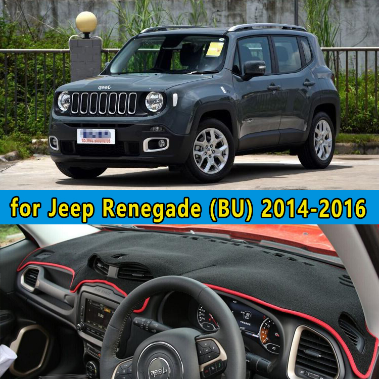 car dashmats car styling accessories dashboard cover for jeep renegade bu 2014 2015 2016 rhd in. Black Bedroom Furniture Sets. Home Design Ideas