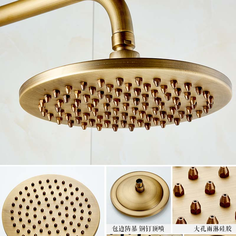 Antique Brass Anti scald Thermostatic Mixer Valve Bath and Shower ...