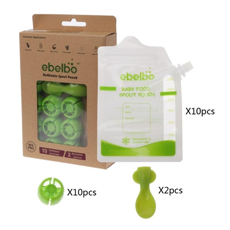 Reutilizável Food Caixa de Alimentação Fontes Do Bebê Saco