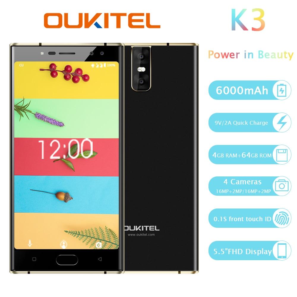 Oukitel K3 Quad Camera Smartphone 5.5