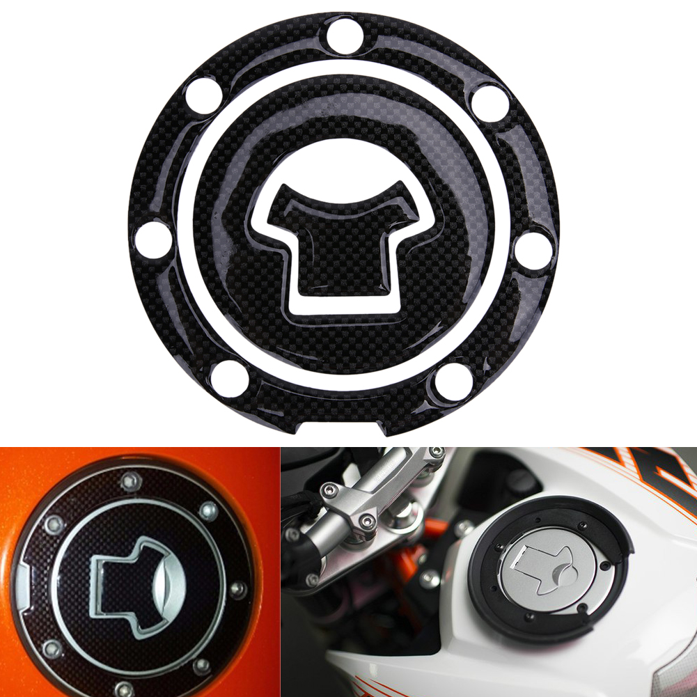 VODOOL Motorcycle Tank Sticker Motorbike Fuel Gas Oil Tank Cap Cover Pad Decor Stickers Decals For Suzuki Honda Yamaha Kawasaki image