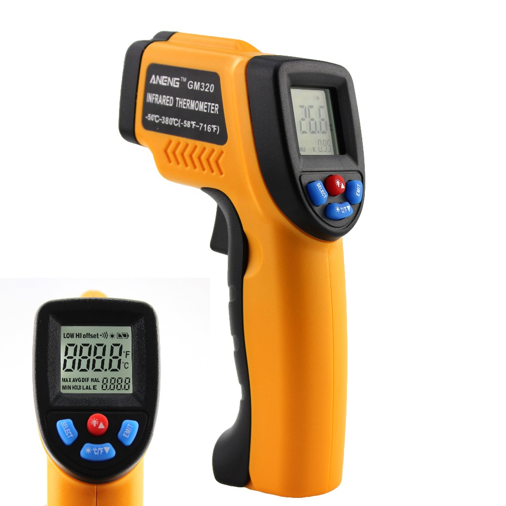 ANENG LCD Digital Infrared Thermometer Industrial Liquid Crystal Instrument Non-contact Temperature Measurement Diagnostic Tool yppd j018e lg lcd liquid crystal module