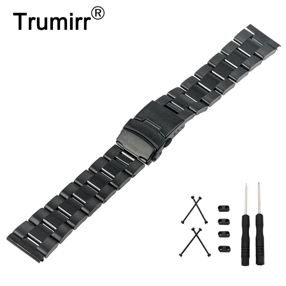 24mm Stainless Steel Watch Band + Lug Adapter + Tool for Suunto Core Safety Buckle Strap Wrist Belt Bracelet Black Silver Gold цена