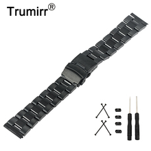 24mm Stainless Steel Watch Band + Lug Adapter + Tool for Suunto Core Safety Buckle Strap Wrist Belt Bracelet Black Silver Gold