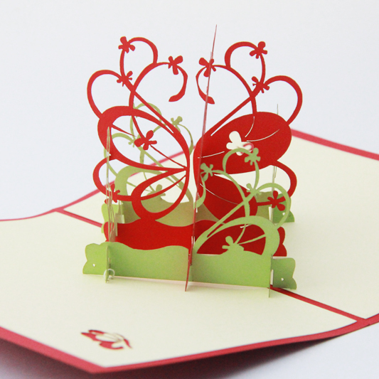 Butterfly Orchid Flower Thank you card /3D pop up greeting card - butterfly thank you cards