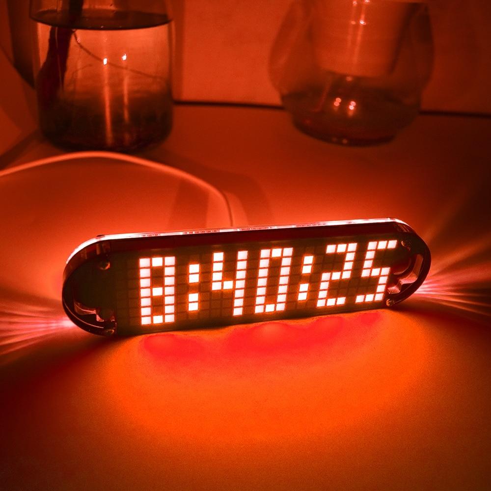 Hohe Genauigkeit Diy Digitale Dot Matrix Led Wecker Kit Timer Temporizador Mit Transparent Fall Temperatur Datum Zeit Display Ein GefüHl Der Leichtigkeit Und Energie Erzeugen Werkzeuge